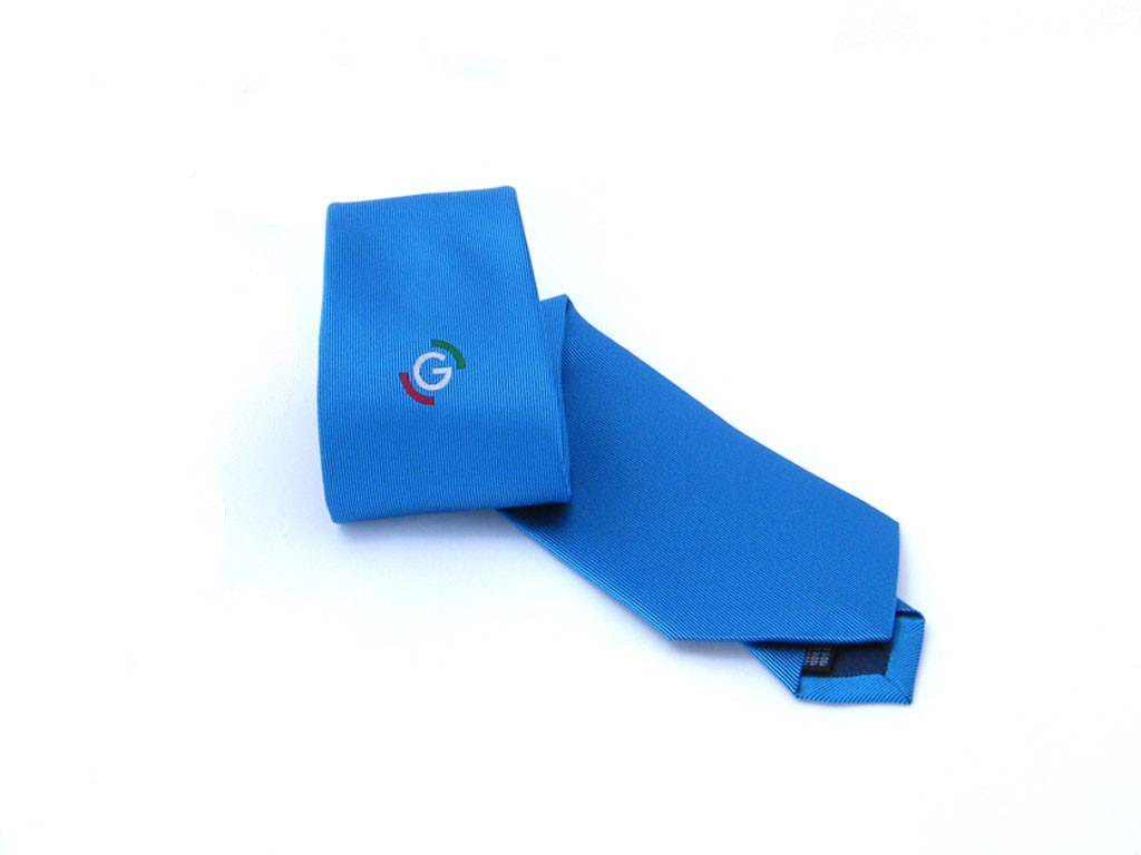 Tie - skyblue model - 100% silk - Made in Como