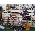 Ghisallo Fixie Bicycle - AMARANTH / CREAM colour model